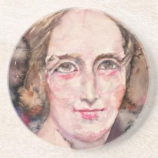 mary shelley - watercolor portrait coaster