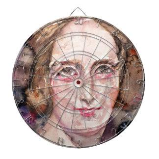 mary shelley - watercolor portrait dartboard