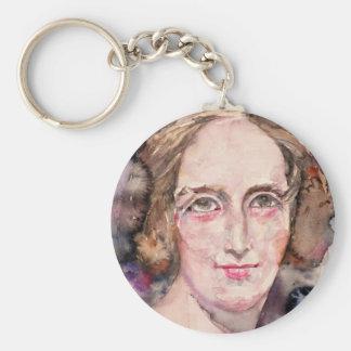 mary shelley - watercolor portrait keychain