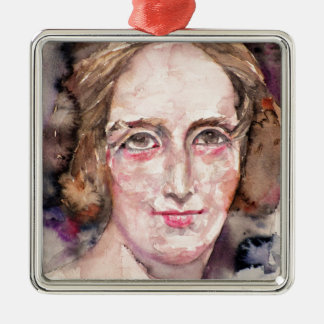 mary shelley - watercolor portrait metal ornament