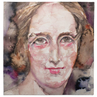 mary shelley - watercolor portrait napkin