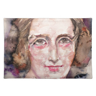 mary shelley - watercolor portrait placemat