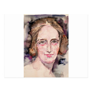 mary shelley - watercolor portrait postcard