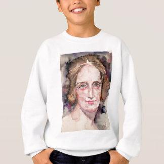 mary shelley - watercolor portrait sweatshirt