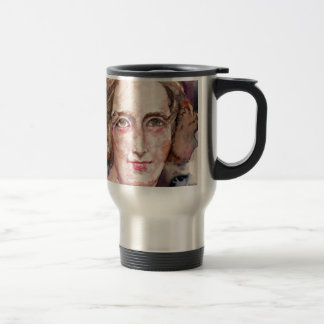 mary shelley - watercolor portrait travel mug