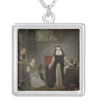 Mary Stuart  at Moment of Leaving for Silver Plated Necklace