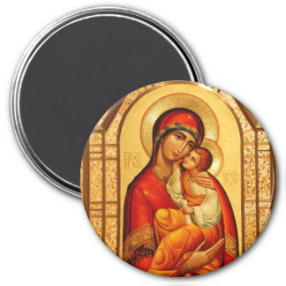 Mary The God-Bearer 3 Inch Round Magnet