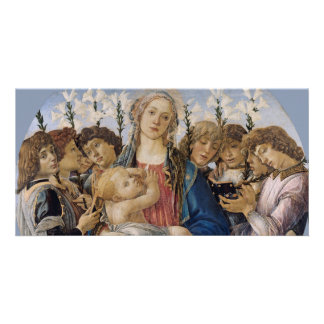 Mary with Child and Singing Angels by Botticelli Photo Cards