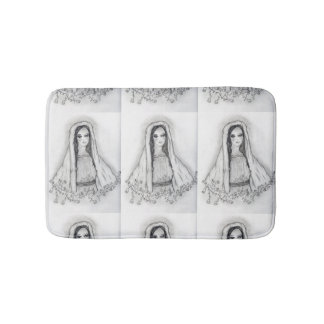Mary with Roses Bath Mat