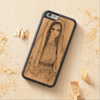 Mary with Roses Carved Cherry iPhone 6 Bumper Case