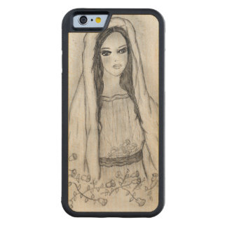 Mary with Roses Carved Maple iPhone 6 Bumper Case