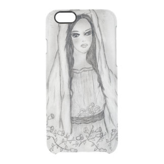 Mary with Roses Clear iPhone 6/6S Case