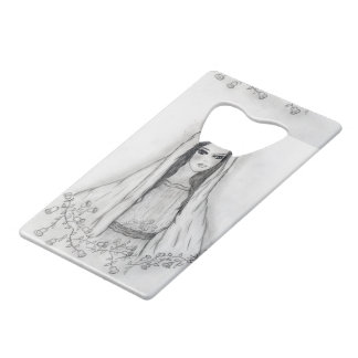 Mary with Roses Credit Card Bottle Opener