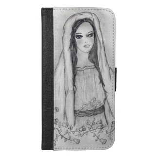 Mary with Roses iPhone 6/6s Plus Wallet Case