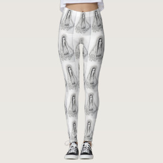 Mary with Roses Leggings