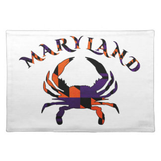 Maryladn Crab Flag Orange and Purple Placemat