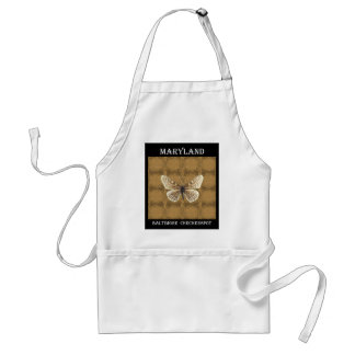 Maryland Baltimore Checker spot Butterfly Standard Apron
