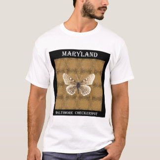 Maryland Baltimore Checker spot Butterfly T-Shirt