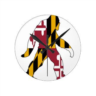 Maryland Bigfoot Round Clock