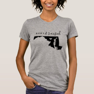 Maryland Born and Raised State Tee