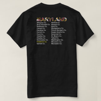 Maryland Counties concert style - Frederick co. T-Shirt