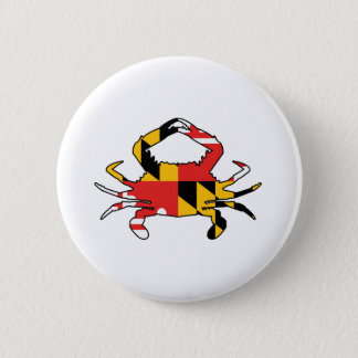 Maryland Crab 2 Inch Round Button