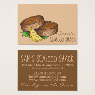 Maryland Crab Cakes Crabcakes Seafood Restaurant Business Card