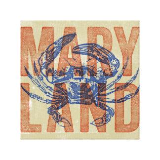 Maryland Crab Canvas Art
