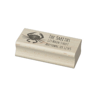 Maryland Crab Crabs Personalized Address Stamp