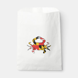Maryland Crab Favour Bag