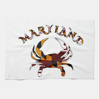 Maryland Crab Flag Kitchen Towel