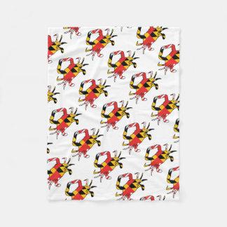 Maryland Crab Fleece Blanket