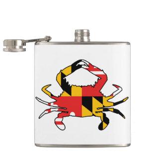 Maryland Crab Hip Flask