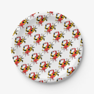 Maryland Crab Paper Plate
