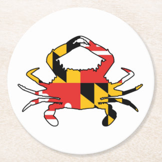 Maryland Crab Round Paper Coaster