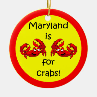 Maryland crabs ceramic ornament