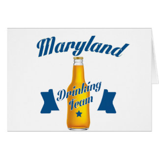 Maryland Drinking team Card