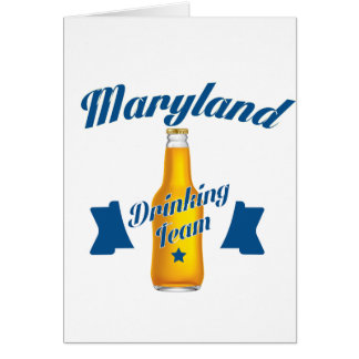 Maryland Drinking team Card
