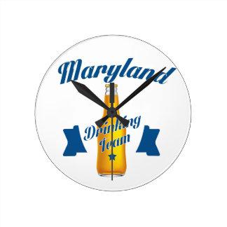 Maryland Drinking team Round Clock