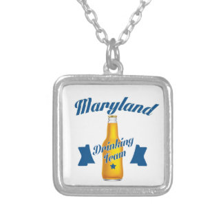 Maryland Drinking team Silver Plated Necklace