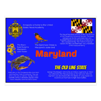 Maryland Facts Postcard