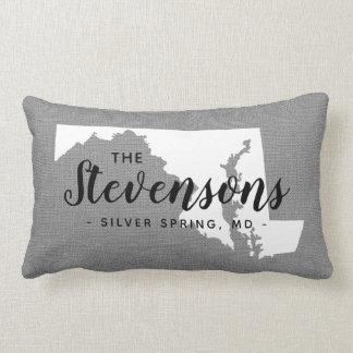 Maryland Family Monogram State Throw Pillow