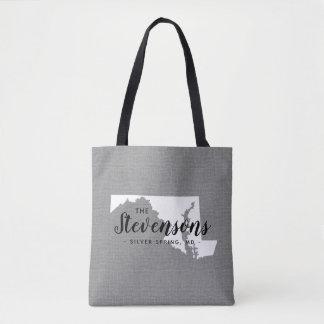 Maryland Family Monogram State Tote Bag