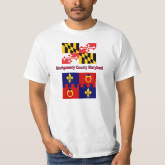Maryland Flag and Montgomery County Flag T-shirt