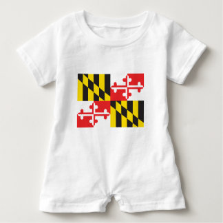 Maryland Flag Baby Romper