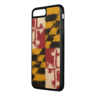 Maryland Flag Carved iPhone 8 Plus/7 Plus Case