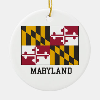 Maryland Flag Ceramic Ornament