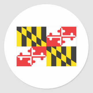 Maryland Flag Classic Round Sticker