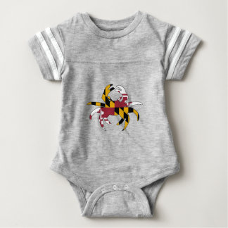Maryland Flag Crab Baby Bodysuit