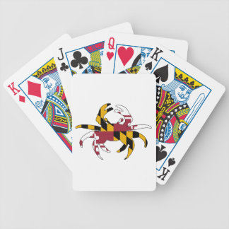 Maryland Flag Crab Bicycle Playing Cards